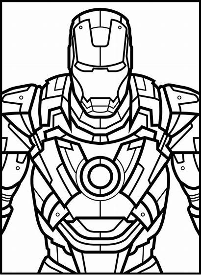 Marvel Coloring Pages Adult Avengers Iron Hero