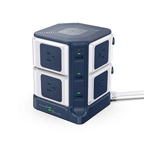 surge strip power usb protector tower bestek outlet joules charging ports smart 1500 computer 40w port feet sur protection cord