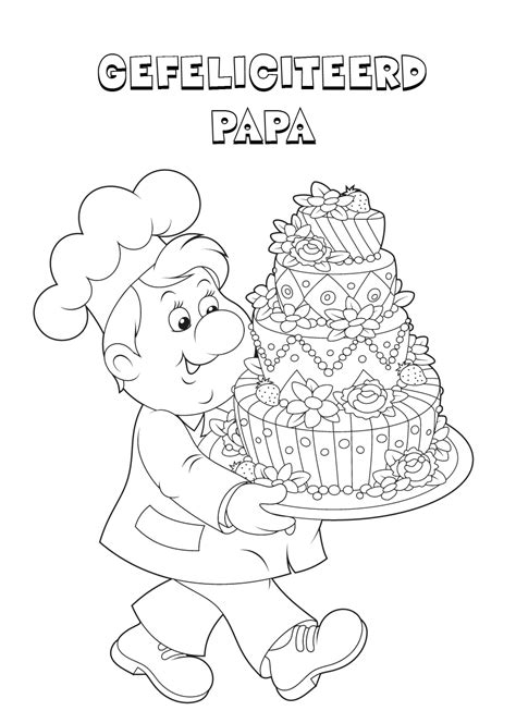 Gefeliciteerd Papa Kleurplaat by 44 Kleurplaten Verjaardag O A Voor Papa Opa En Oma