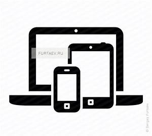Mobile devices vector icon