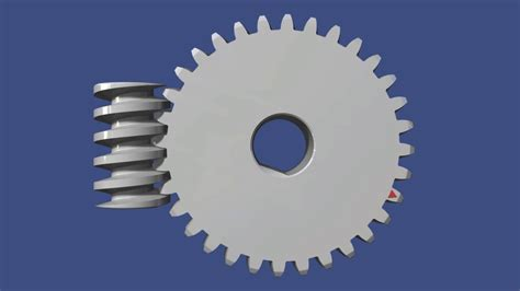 Worm Gear System - 3D Model Animation - YouTube