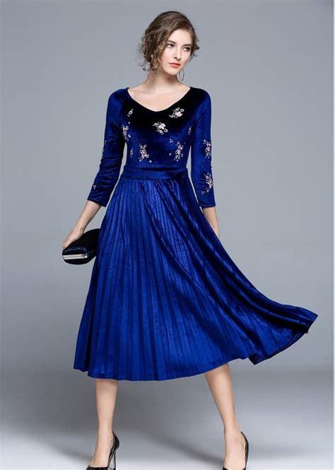 design quality slim velvet dresses girls casual