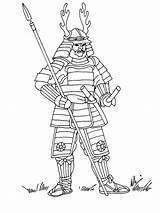 Samurai Coloring Boys sketch template