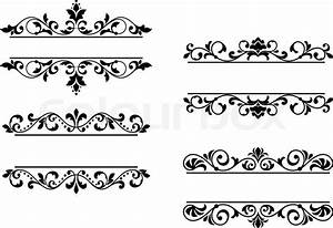 Floral headers and borders Stock Vector Colourbox