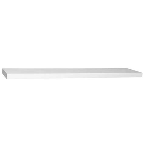 36 inch white floating shelves woodland products floating white slim line 36 inch shelf 7335
