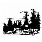 Mountain Range Clip Trees Clipart Cliparts Vector
