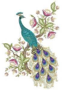 Peacock Machine Embroidery Designs Patterns