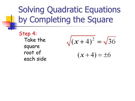 Solving Quadratic Equations By Completing The Square  Ppt Video Online Download