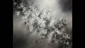 Peinture En Noir Et Blanc : peinture acrylique abstraite en noir et blanc youtube ~ Melissatoandfro.com Idées de Décoration