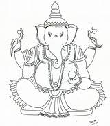 Ganesh Coloring Pages Ganesha Bal Cartoon Colouring Printable Lord Drawings Print Nene Thomas Getcolorings Mythological Creatures Excellent sketch template