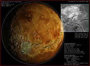 Planet Venus Surface Features