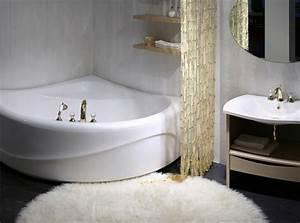 petite baignoire d39angle et solutions pour petits espaces With salle de bain avec baignoire d angle