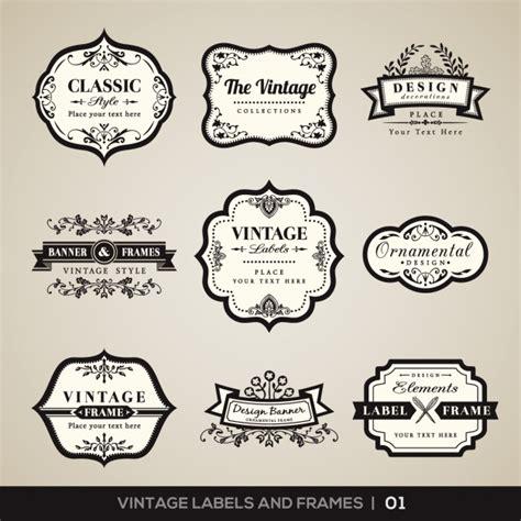 Cornici Vintage Vintage Etichette E Cornici Collezione Scaricare Vettori