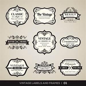 Was Ist Vintage : vintage etiketten und rahmen sammlung download der kostenlosen vektor ~ Markanthonyermac.com Haus und Dekorationen