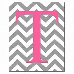 chevron monogram initial letter nursery art 8x10 print With chevron letter k