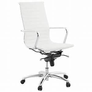 Fauteuil Cuir Bureau : fauteuil de bureau amen en simili cuir blanc ~ Teatrodelosmanantiales.com Idées de Décoration