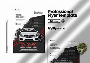 Rent A Car Free Psd Flyer Template