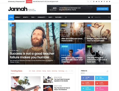 News Themes 25 Best News Themes 2018 Athemes