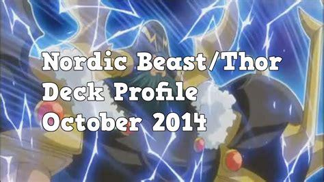 yugioh nordic deck 2014 yugioh nordic beast thor deck profile october 2014
