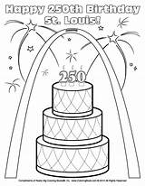 Coloring Louis St Pages Birthday Cardinals Happy Fredbird 250th Blues Coloringbook Sheets Arch Popular Templates Template sketch template