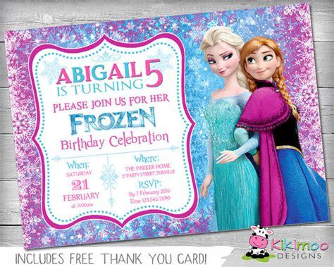 Frozen Personalized Birthday Invitations Menshealtharts