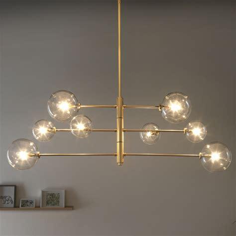 molekuel lampe oder sputnik lampe messingschwarz