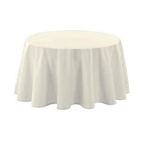 nappe ronde 240 blanche achat nappe polyester blanche nappes serviettes chemins de table 1001 deco table