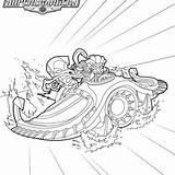 Skylanders Coloring Shadow Sea Reef Submarine Streak Ripper sketch template