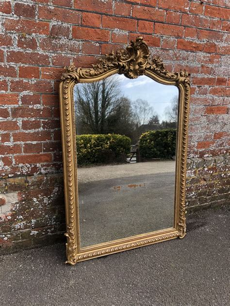 antique french mirrors large antique mirror floor length