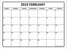 February 2019 Calendar Canada 2019 calendar template