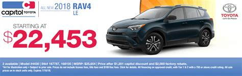 Capitol Toyota Salem by 2018 Rav4 Specials Offers In Salem Or