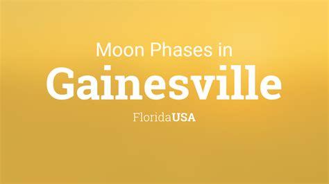 moon phases  lunar calendar  gainesville florida