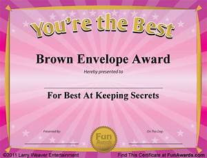 Free Funny Award Certificate Templates Fake Awards ...
