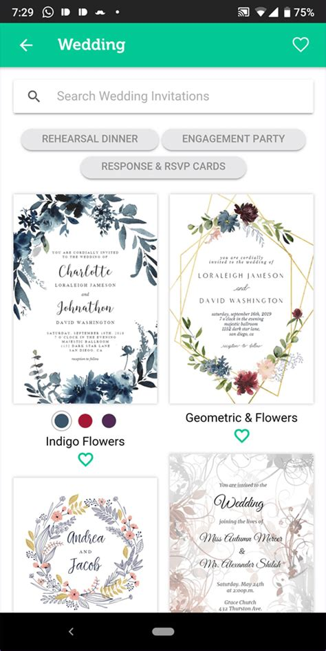 wedding invitation card maker apps  android