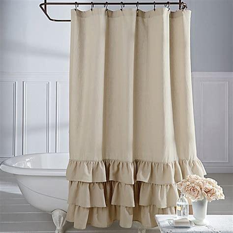 vintage shower curtains veratex vintage ruffle shower curtain bed bath beyond