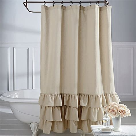 Veratex Vintage Ruffle Shower Curtain  Bed Bath & Beyond