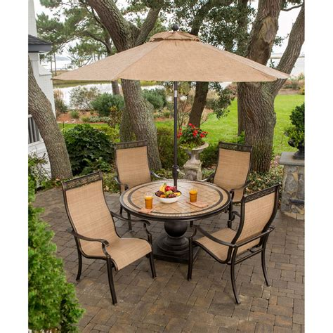 Cheap Patio Sets With Umbrella by Monaco Monaco5pc 5 Outdoor Dining Set 4 Sling