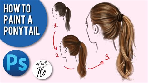 How To Paint A Ponytail  Digital Art Photoshop Tutorial