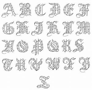Fancy Cursive Fonts Alphabet For Tattoos Scaninglisfo ...