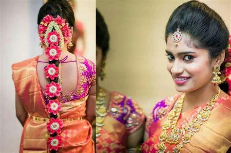 traditional southern indian bride wearing bridal saree