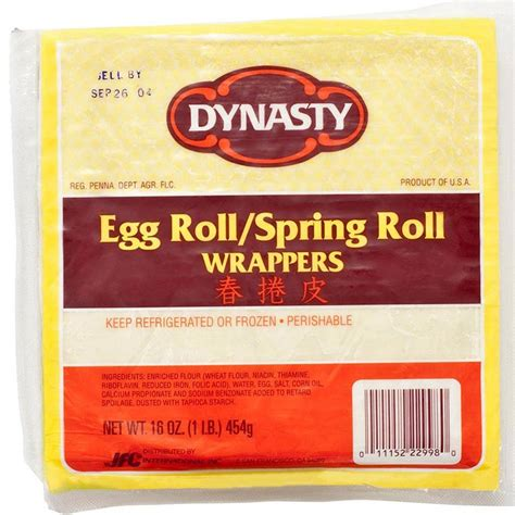 roll wrappers egg roll spring roll wrapper 6 5 inch buy oriental products online at gourmet food world