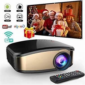 Wireless Wifi Video Projector Diwuer Projector  50  Brighter