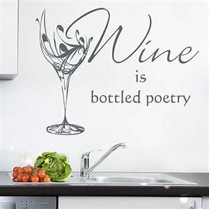 wine glass kitchen sticker personalised wall sticker With awesome wine decals for walls ideas