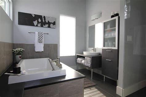 Modern Bathroom Ensuite by Ensuite Cabinets Modern Bathroom Ottawa By