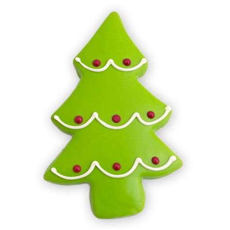 Christmas Holiday Tree Cookies   Decorated Cutout Cookies by Merlino Baking Co.   Seattle