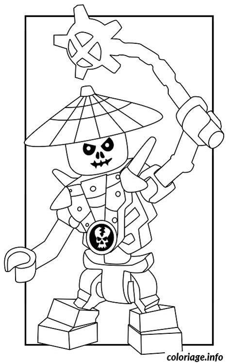 coloriage dessin ennemis squelette ninjago  dessin