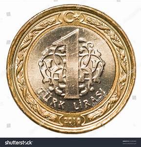 One Turkish Lira Coin Stock Photo 85389460 Shutterstock