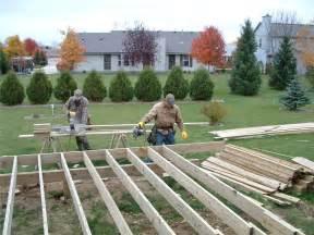 Back Yard Deck Construction