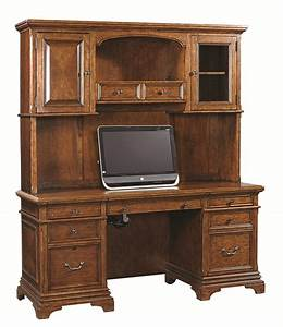 Aspenhome Hawthorne 74 Inch Credenza Desk And Hutch With 3