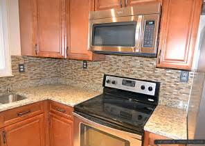 kitchen backsplash granite brown glass tile santa cecilia countertop backsplash